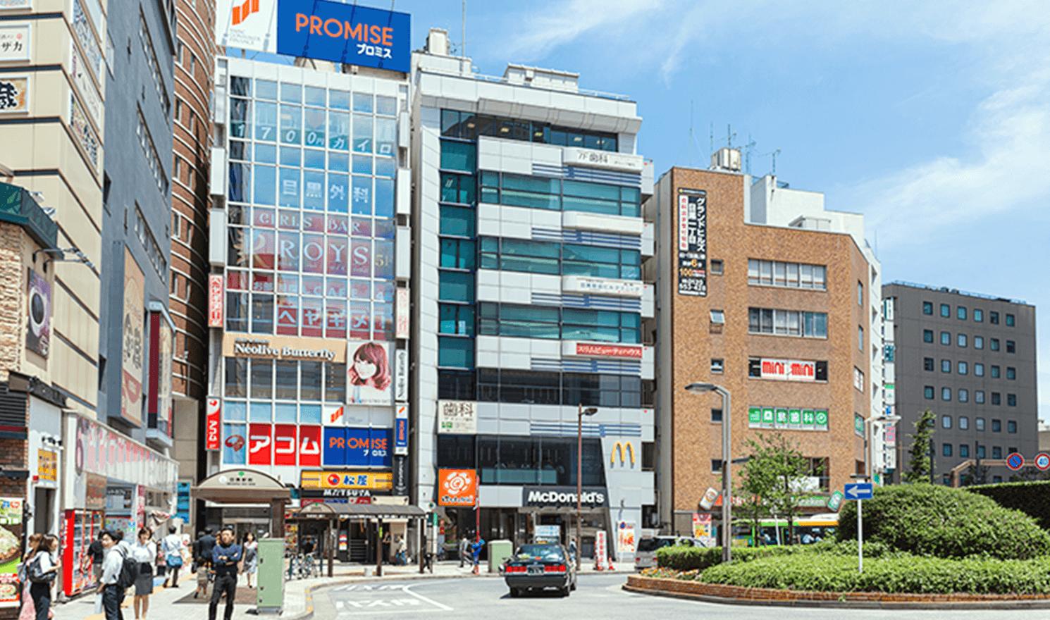 目黒駅東口の改札
